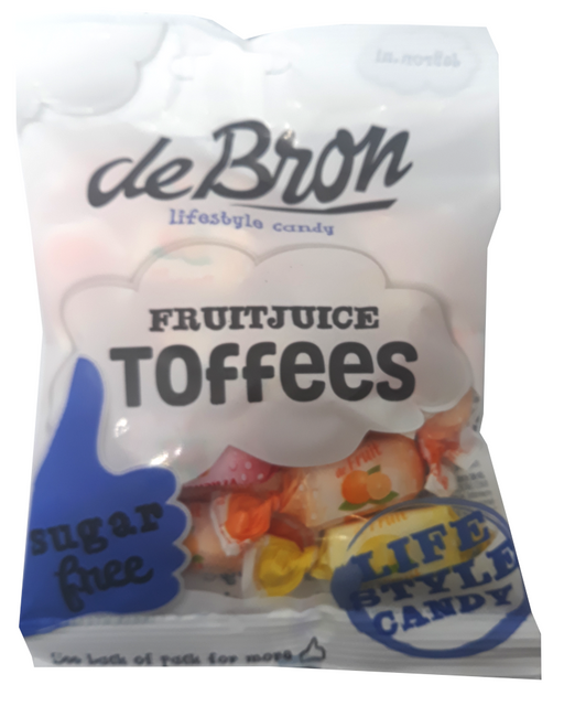 de Bron Sugar free fruit and juice toffee