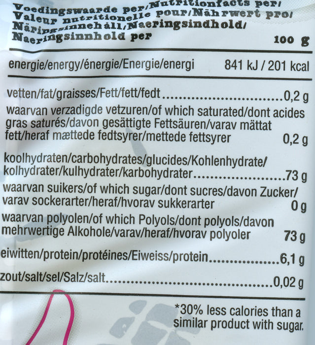 de Bron sugar free Jelly Bears Nutritional info