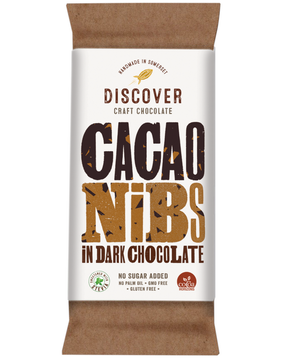 Discover Stevia Dark Chocolate with Cocoa  Nibs (No Added Sugar)