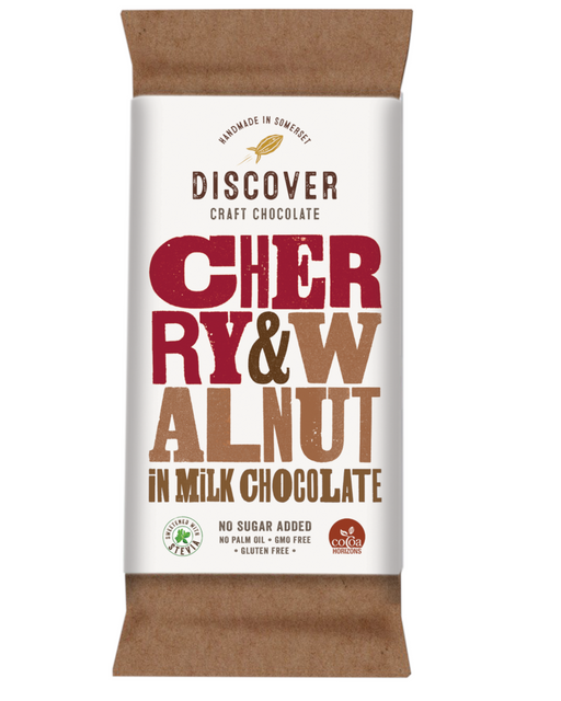 Discover Stevia Milk Chocolate Cherry and Walnut (No Added Sugar)