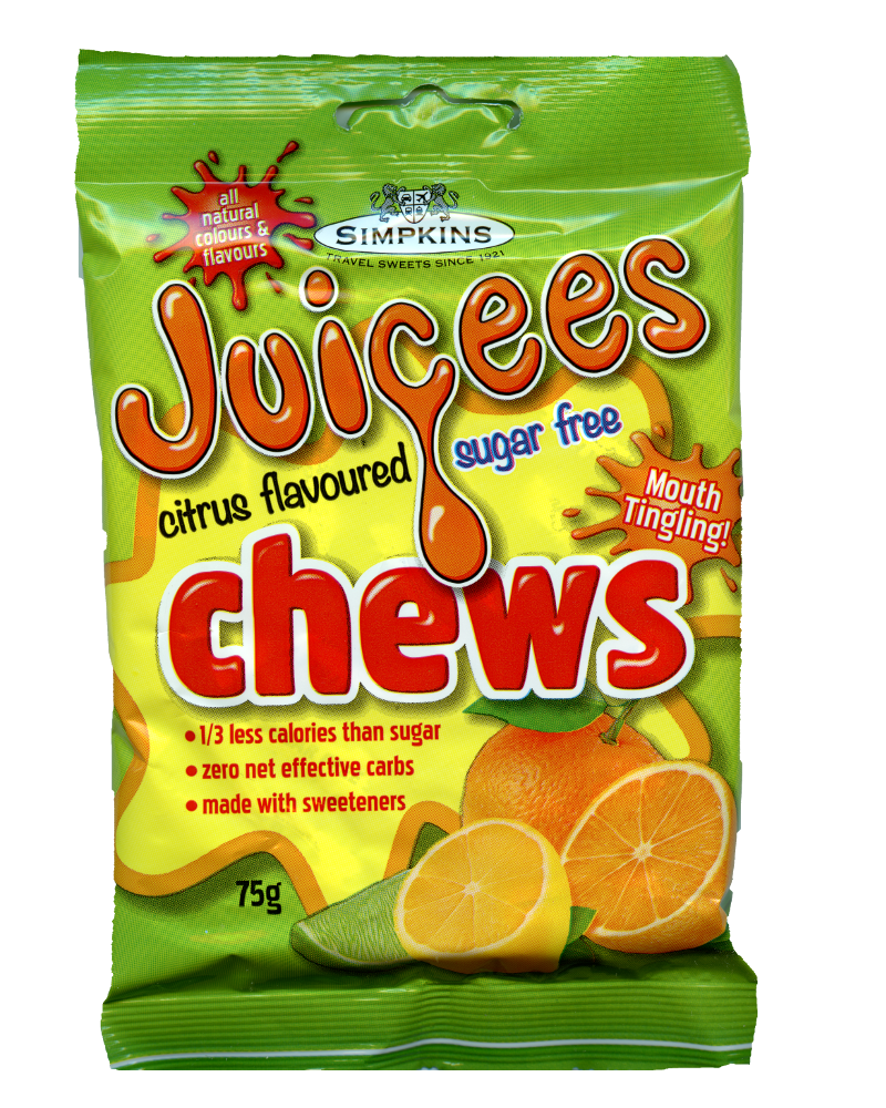 Simpkins Sugar free Juicees Citrus Flavoured Chews