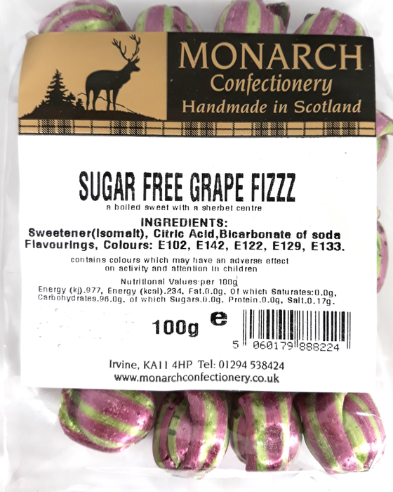 Monarch Sugar Grape Apple Fizzz