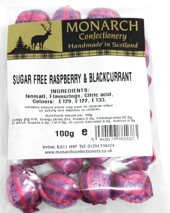 Monarch Sugar Free Raspberry and Blackcurrant
