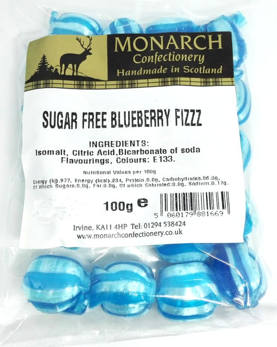 Monarch Sugar Free BlueBerry Fizz