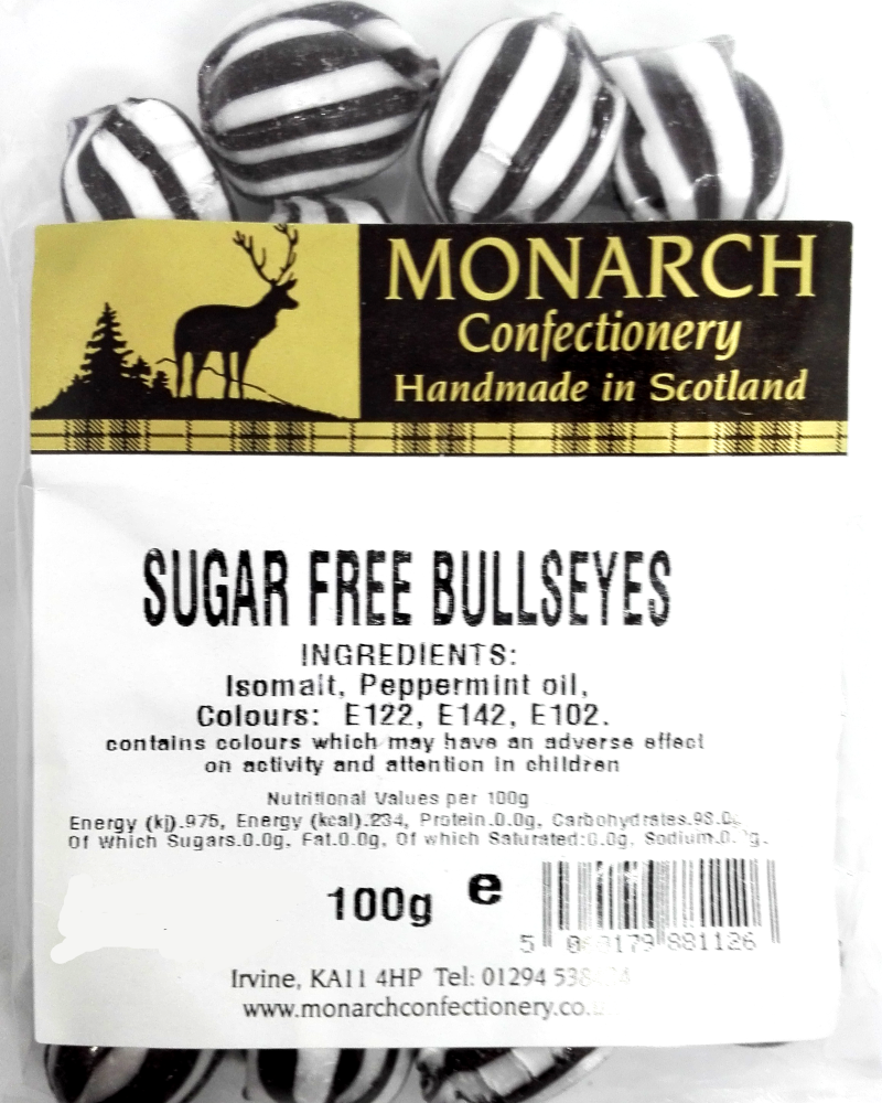 Monarch Sugar Free Bullseyes