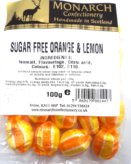 Monarch Sugar Free Orange & Lemon