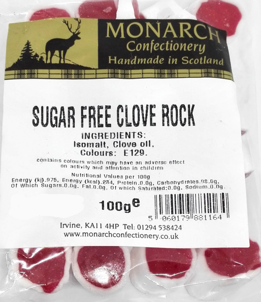 Monarch Sugar Free Clove Rock