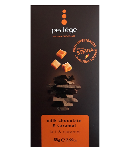 Perlege Stevia Milk chocolate & Caramel (No Added Sugar)