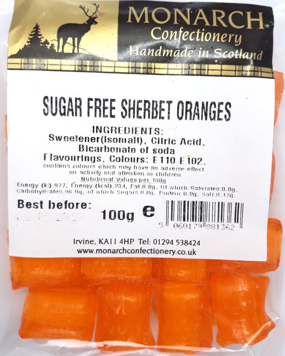 Monarch Sugar Free Sherbet Oranges