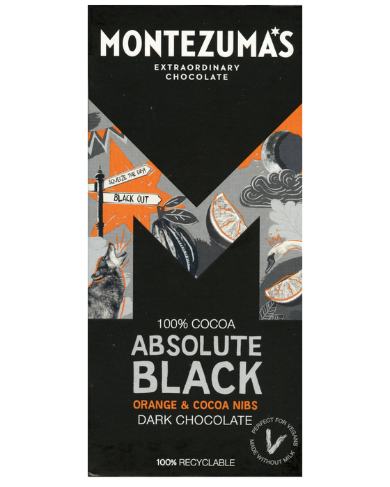 Absolute Black: 100% Cocoa Bar with Orange & Cocoa Nibs (NAS)