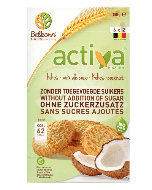 Activa  Coconut Biscuits (No added Sugar)