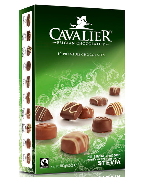 Cavalier 10 Premium Chocolates with stevia (no added Sugar)