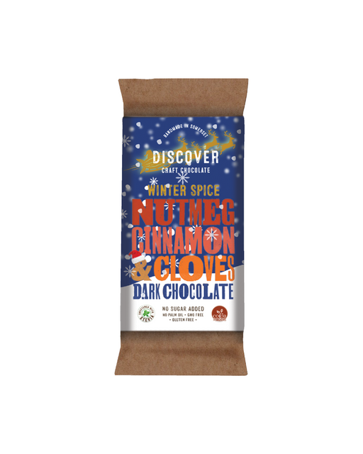 Discover Stevia Dark Chocolate with Winter Spice (No Added Sugar)