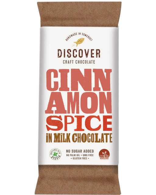 Discover Stevia cinnamon milk Chocolate (No Added sugar)