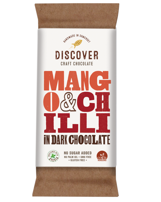 Discover Dark stevia Chocolate with Mango & Chilli