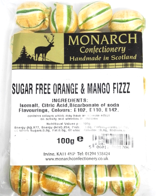 Monarch Sugar Free Orange & Mango Fizz