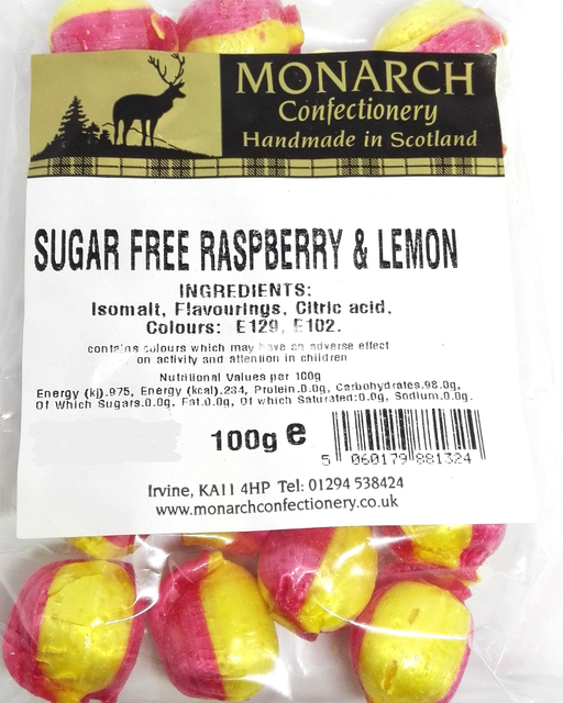 Monarch Sugar Free Raspberry and Lemon