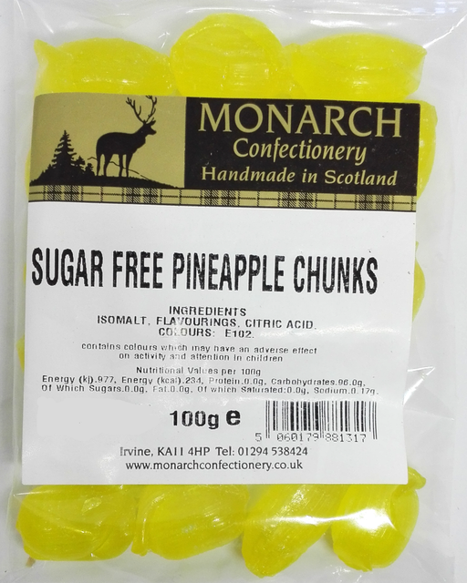Monarch Sugar Free Pineapple chunks