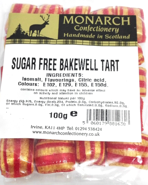 Monarch Sugar free Bakewell tart