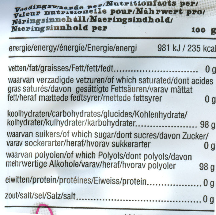 de Bron Sugar Free Peppermints nutritional info