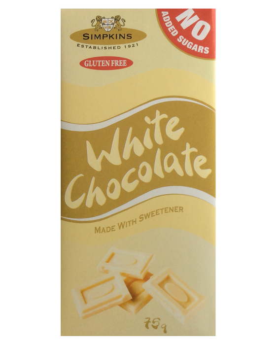 Simpkins No Added Sugar White Chocolate