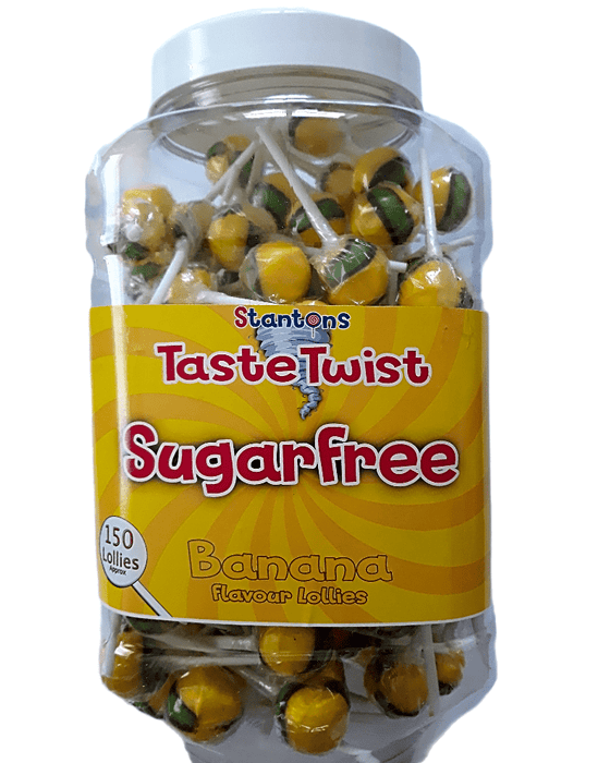 Stantons Sugar Free Banana Wrapped Lollies Jar 1 x 150pk