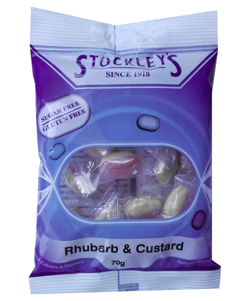 Stockley's No added sugar rhubarb and custard