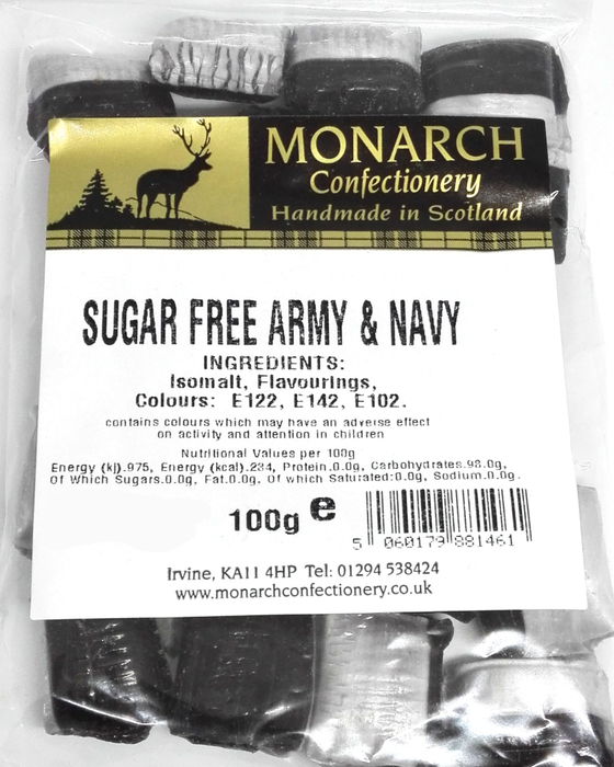 Monarch Sugar Free Army and Navy