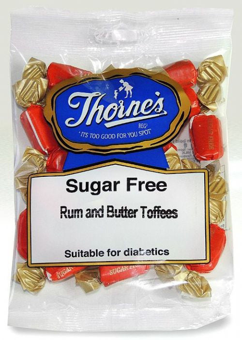 Thorne's Sugar free  Rum and Butter Toffee