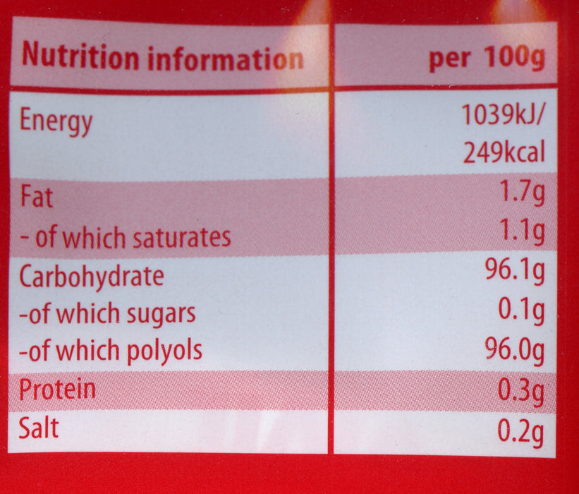 Vivil Sugar free Strawberry and cream Nutritional info