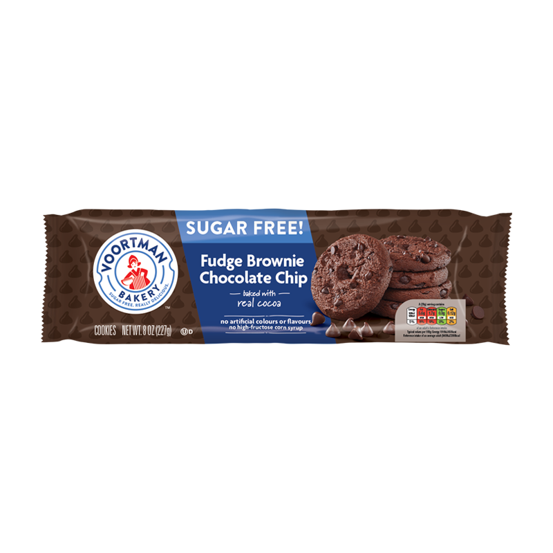 Voortman Cookies Sugar Free Fudge Brownie