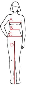 Harcour Ladies Size Guide Figure