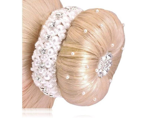 SD-Design Crystal & Pearl Scrunchie - SD-Design - Equitain