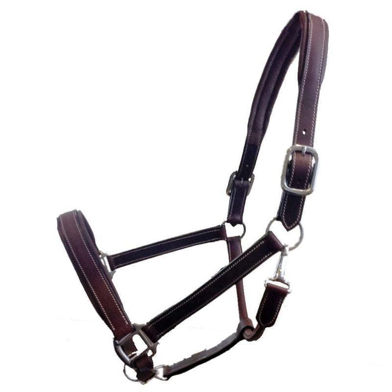Equitain Padded Leather Head Collar Brown