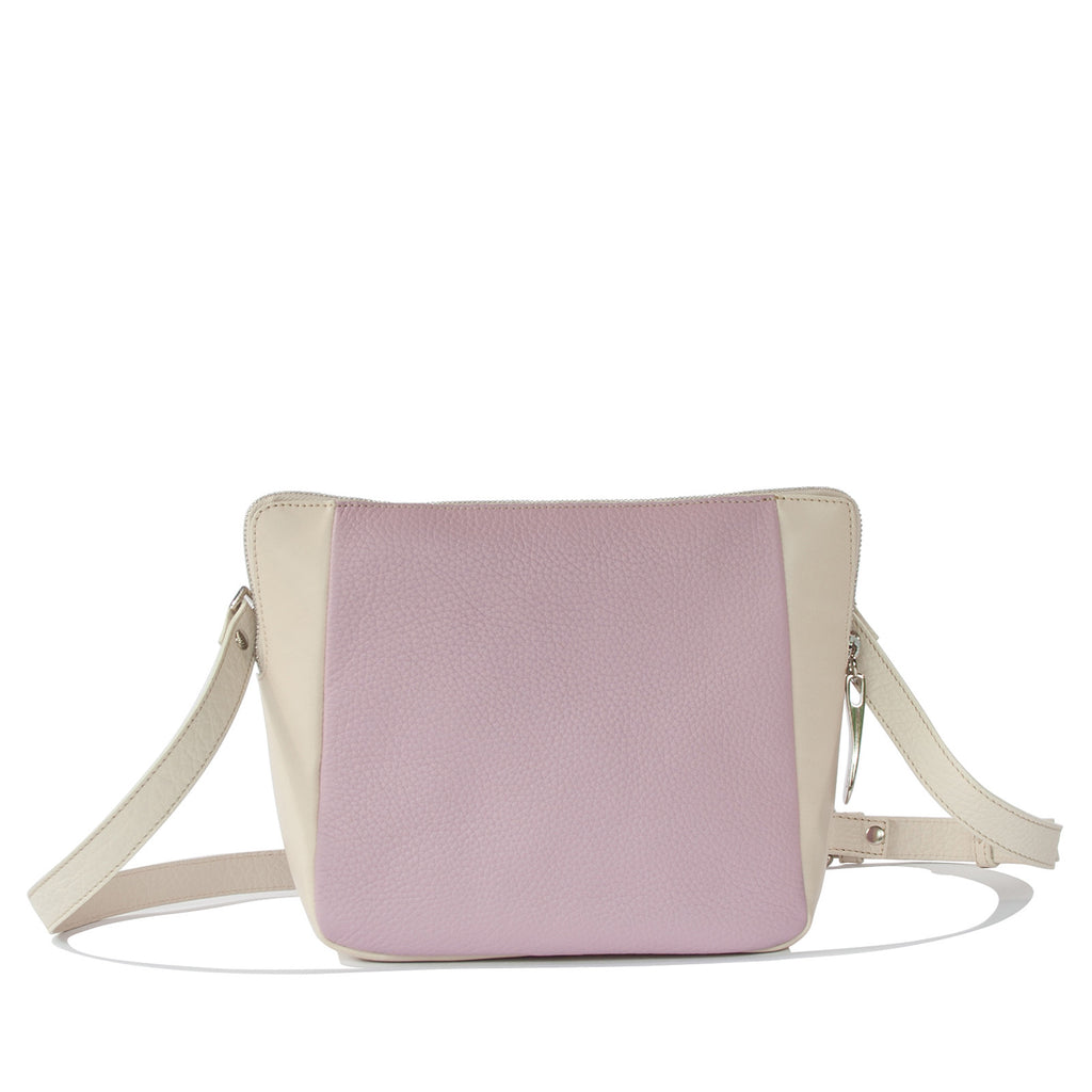 #05 Soft beige and lilac small cross-body bag