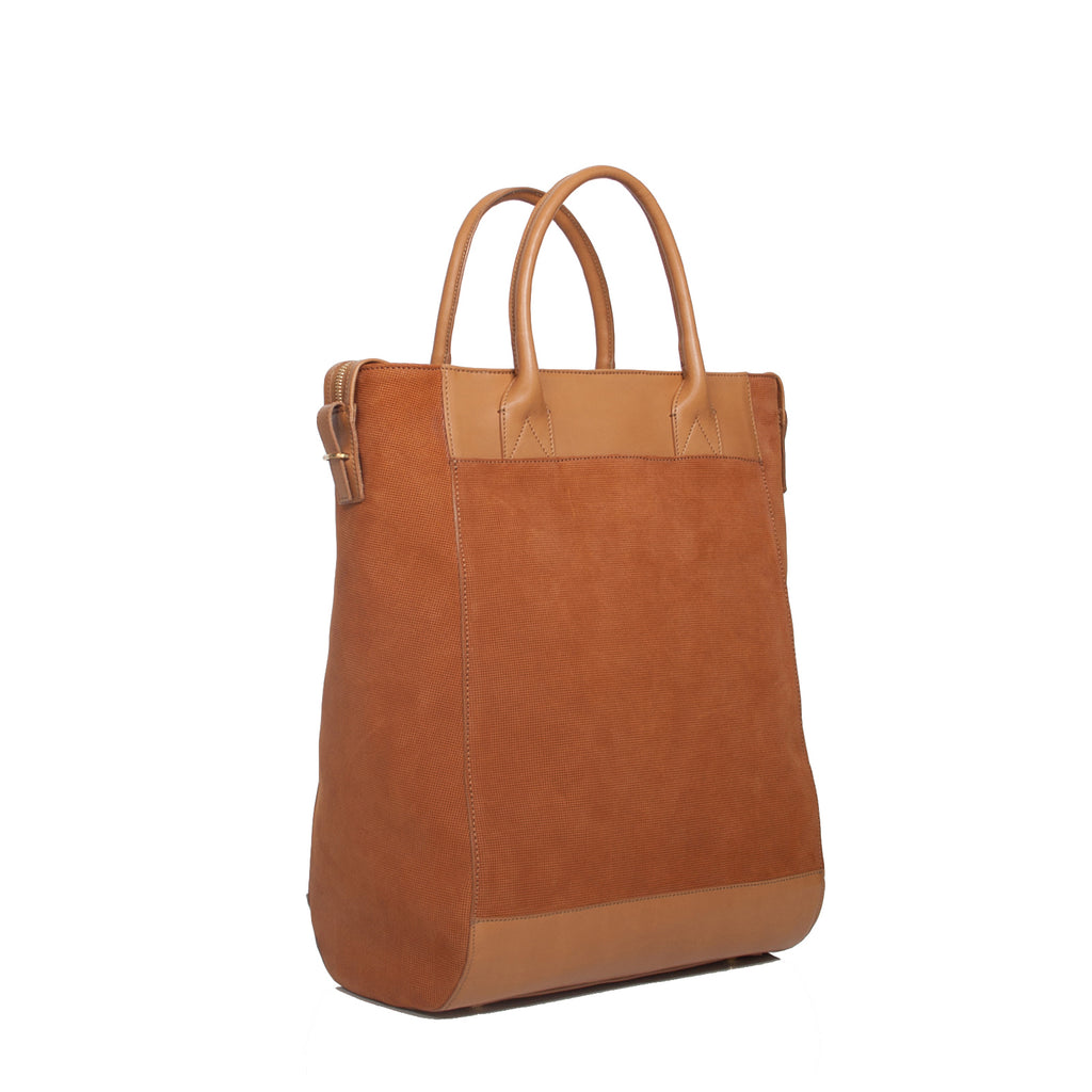 #06 Twotone caramel large tote