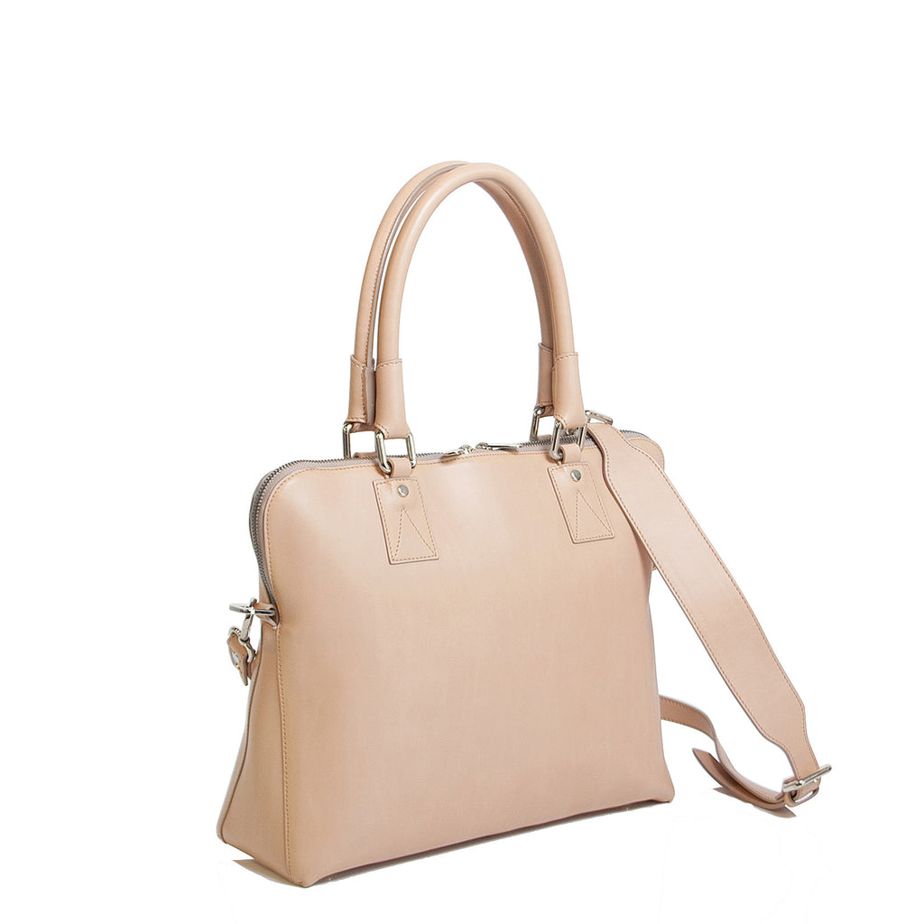 #14 Blush smooth leather medium handbag