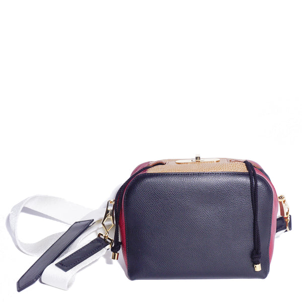 #18 multi-colour mini boxy cross-body bag