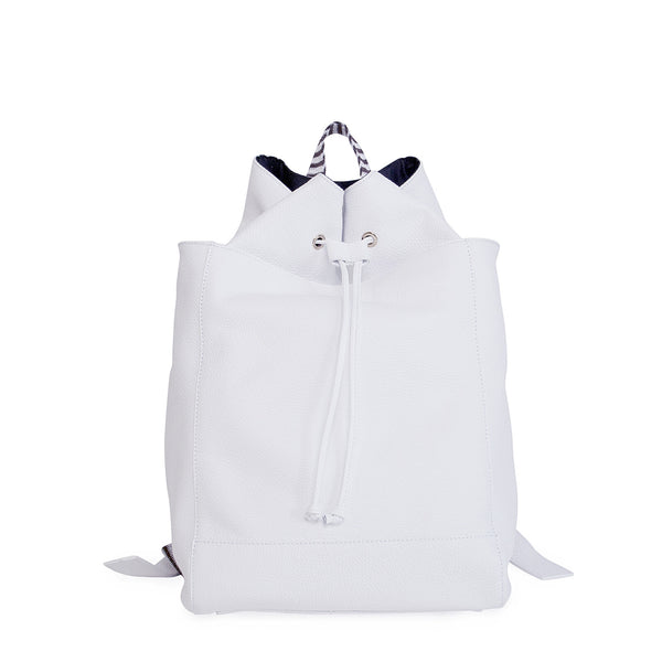 #21 White back pack