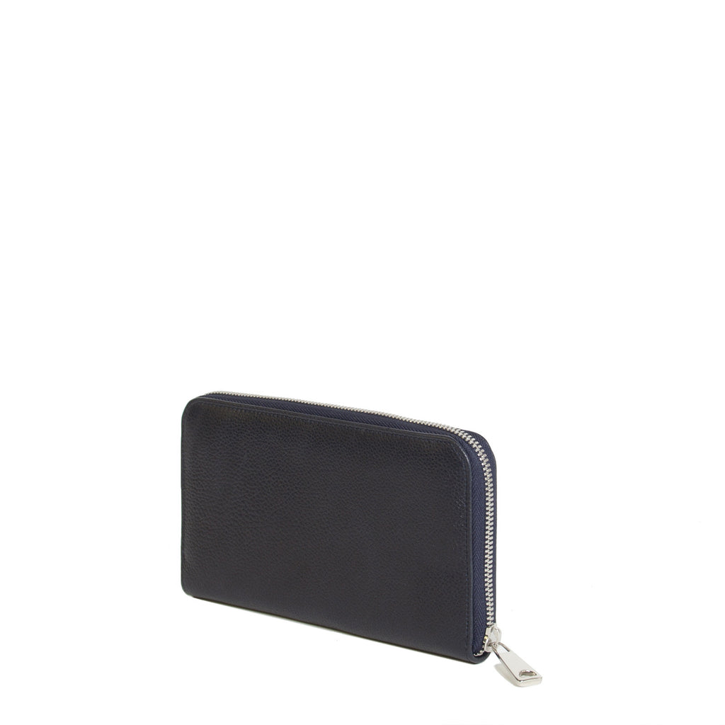 #24 Navy blue light grain wallet