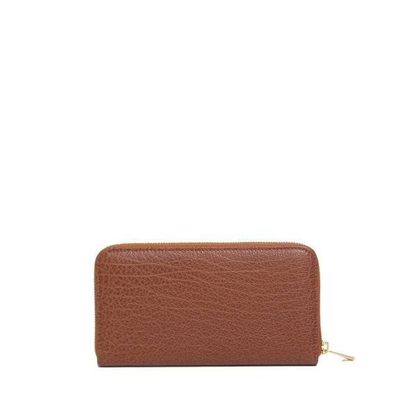 #24 Warm caramel long wallet