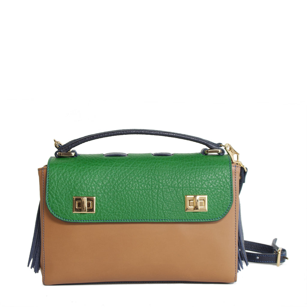 #28 Colour block handbag