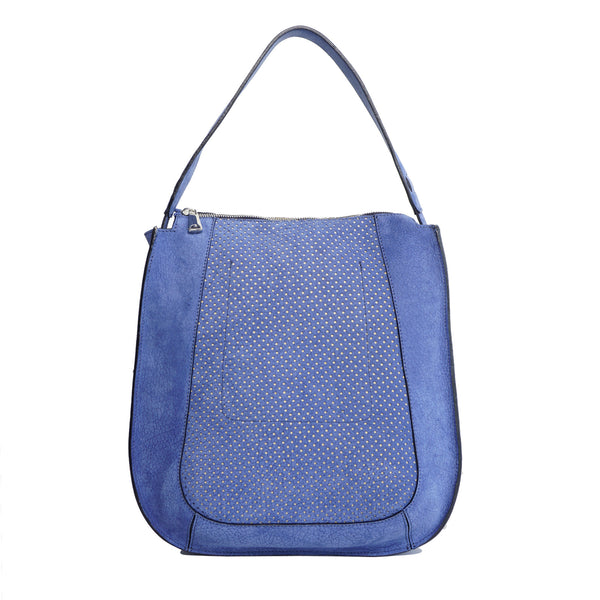 #32 Soft blue zip tote bag
