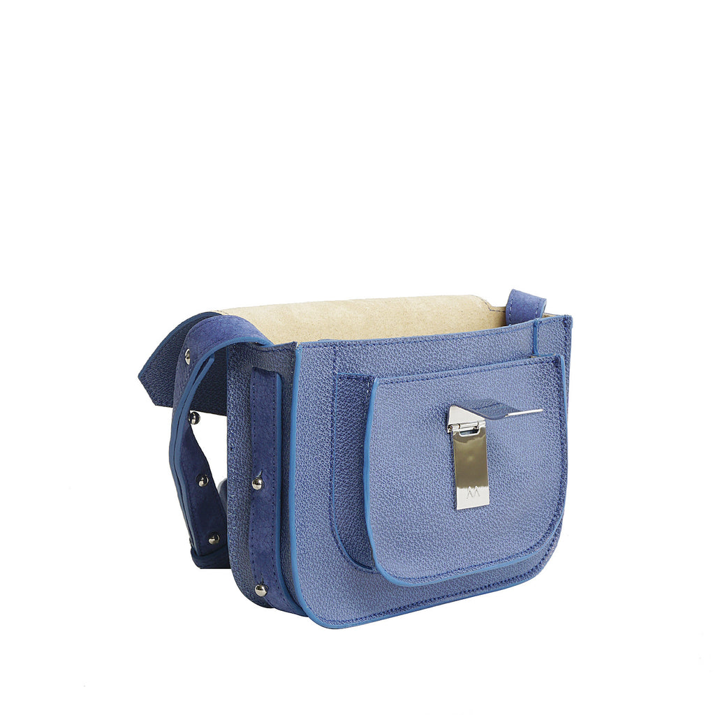 #33  Denim blue mini shoulder bag