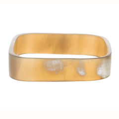 Narrow rounded square bangle