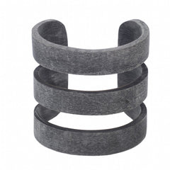 Buffalo Horn 3 Band Matt Gray Cuff