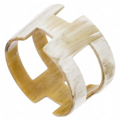 Buffalo HornBangle With Geometric Cut Outs