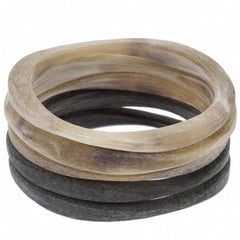 Buffalo Horn Bangle Matt Bangle Set
