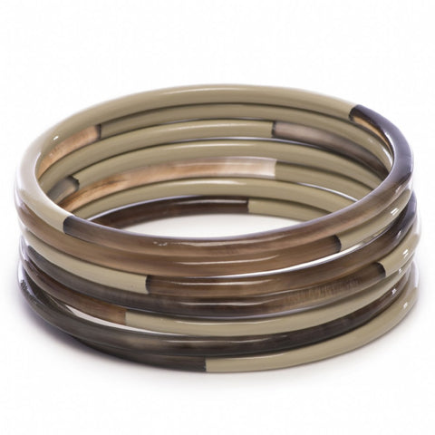 Set Of Horn Bangles Wheat Lacquer