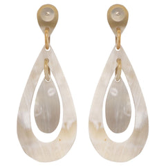 Light Horn Oval Cut-Out Earring